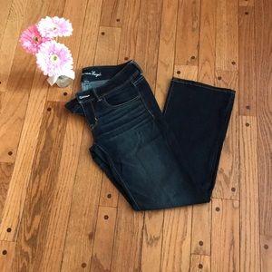 American Eagle-medium wash-bootcut jeans - Size 8